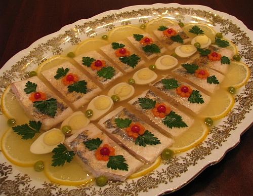 Рецепт заливное с рыбой