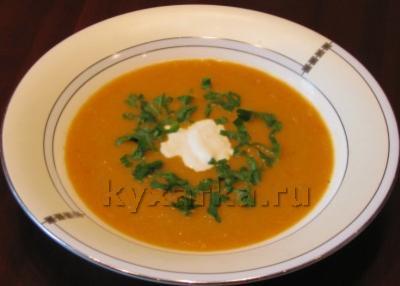 Суп-пюре с печеным перцем