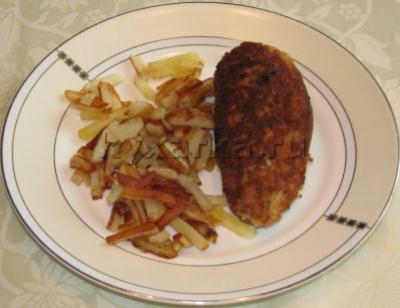Куриная грудка фаршированная ветчиной и сыром