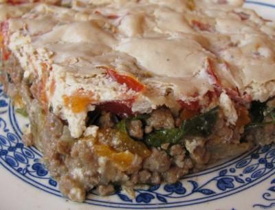 Мясо под тахинным соусом