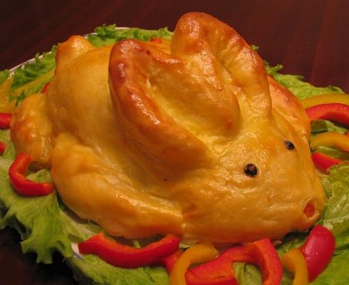 Картофельный заяц с рыбой