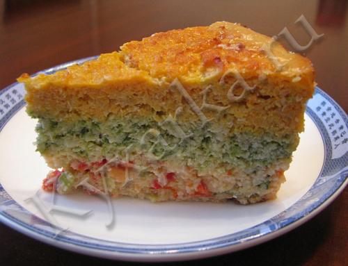 Рыбная запеканка с овощами