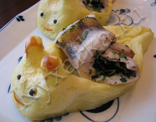 Картофельные улитки с рыбой