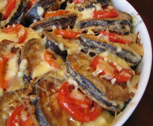 Кармашки из баклажанов с мясом