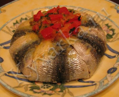 Рыбные узелочки с овощами