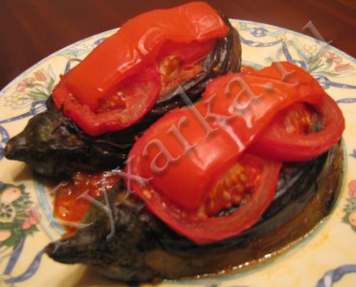 Баклажаны с мясом по-турецки (Karniyarik)