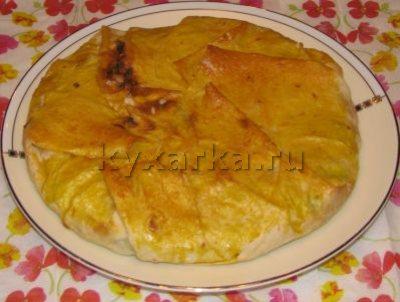 Быстрый сырный пирог из лаваша