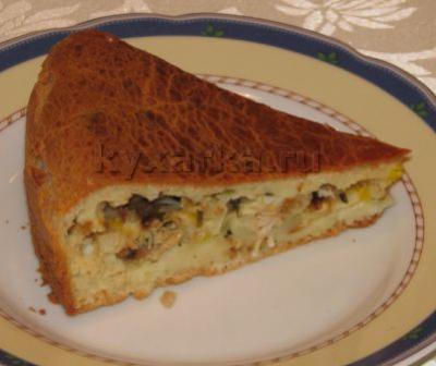 Несладкий пирог «Из того, что было»