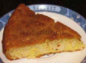 легкий Капустный рецепт пирог