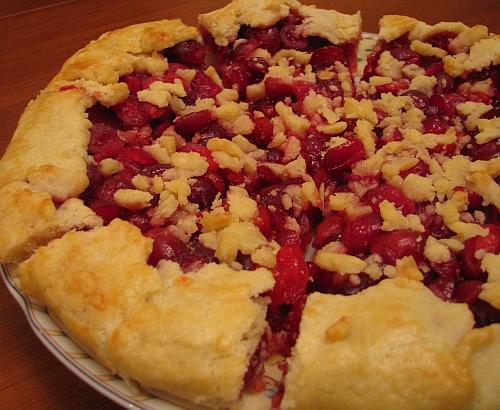Пирог-галета с клюквой