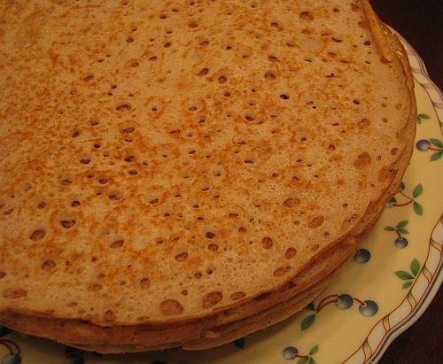 Гречнево-пшеничные блины (дрожжевые)